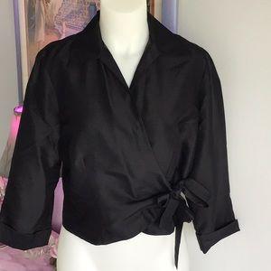 NWOT 'Tess' 💯% SILK wrap dress shirt